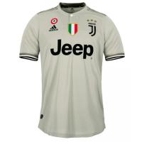 18-19 Juventus Away Gray Soccer Jersey Shirt(Player Version)