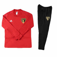 Kids 18-19 Sao Paulo Red Sweat Shirt Kit(Top+Trouser)
