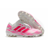 AD X Nemeziz Messi 18.1 AG Soccer Cleats-Pink&White