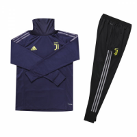 Kids 18-19 Juventus Navy Turtleneck Sweat Shirt Kit(Top+Trouser)