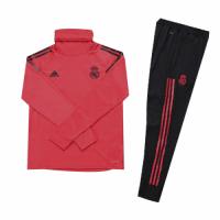 Kids 18-19 Real Madrid Red Turtleneck Sweat Shirt Kit(Top+Trouser)