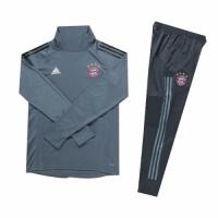 Kids 18-19 Bayern Munich Gray Turtleneck Sweat Shirt Kit(Top+Trouser)