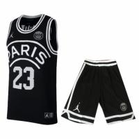 PSG×JORDAN Jordan #23 Black Basketball Jersey Kit(Shirt+Short)