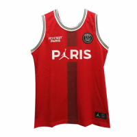 PSG×JORDAN Red Basketball Jersey Shirt