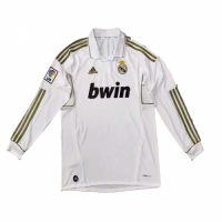 2012 Real Madrid Home Long Sleeve Retro Jersey Shirt