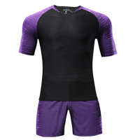 Customize Team Purple Player Version Soccer Jerseys Kit(Shirt+Short)