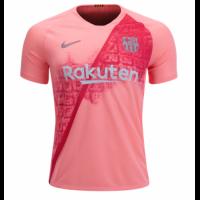 18-19 Barcelona Third Away Pink Soccer Jersey Shirt