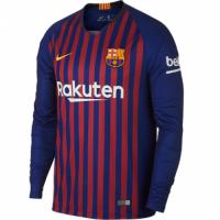 18-19 Barcelona Home Long Sleeve Jersey Shirt
