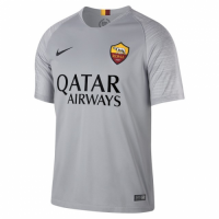 18-19 Roma Away Gray Soccer Jersey Shirt(Player Version)