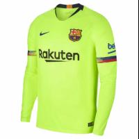 18-19 Barcelona Away Green Long Sleeve Jersey Shirt