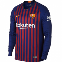 18-19 Barcelona Home Long Sleeve Jersey Shirt