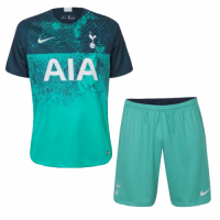 18-19 Tottenham Hotspur Third Away Green Jersey Kit(Shirt+Short)