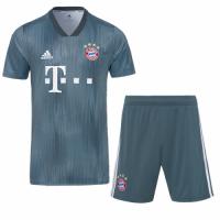 18-19 Bayern Munich Third Away Navy Jersey Kit(Shirt+Short)