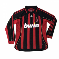 2006 AC Milan Retro Home Red&Black Long Sleeve Jersey Shirt