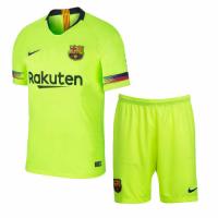 18-19 Barcelona Away Green Soccer Jersey Kit(Shirt+Short)