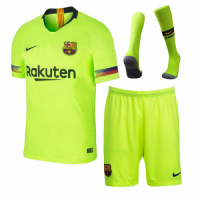 18-19 Barcelona Away Green Soccer Jersey Kit(Shirt+Short+Sock)