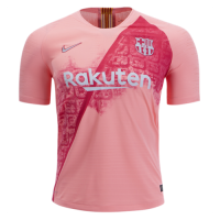 18-19 Barcelona Third Away Pink Soccer Jersey Shirt(Player Version)