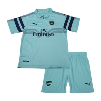 18-19 Arsenal Third Away Green Children's Jersey Kit(Shirt+Short)