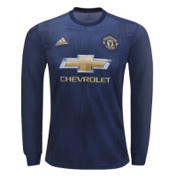 18-19 Manchester United Third Away Navy Long Sleeve Jersey Shirt
