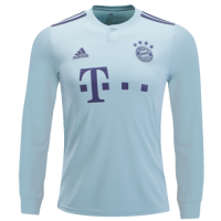18-19 Bayern Munich Away Mint Green Long Sleeve Jersey Shirt