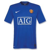 07-08 Manchester United Third Away Blue Retro Jerseys Shirt