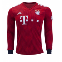 18-19 Bayern Munich Home Long Sleeve Jersey Shirt