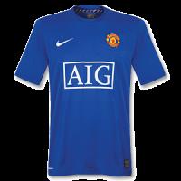 07-08 Manchester United Third Away Blue Retro Jerseys Shirt