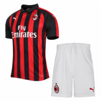 18-19 AC Milan Home Soccer Jersey Kit(Shirt+Short)