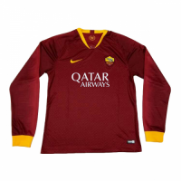 18-19 Roma Home Red Long Sleeve Jersey Shirt