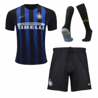 18-19 Inter Milan Home Soccer Jersey Whole Kit(Shirt+Short+Socks)