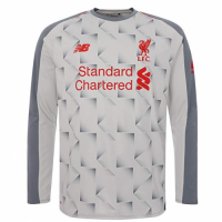18-19 Liverpool Third Away Light Grey Long Sleeve Jersey Shirt