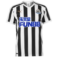 18-19 Newcastle United Home Black&White Soccer Jersey Shirt
