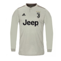 18-19 Juventus Away Gray Long Sleeve Soccer Jersey Shirt