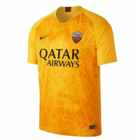 18-19 Roma Third Away Yellow Soccer Jersey Shirt