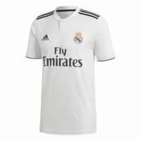 18-19 Real Madrid Home White Soccer Jersey Shirt