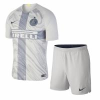 18-19 Inter Milan Third Away Gray Soccer Jersey Kit(Shirt+Short)
