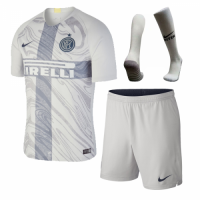18-19 Inter Milan Third Away Gray Soccer Jersey Whole Kit(Shirt+Short+Socks)