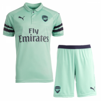 18-19 Arsenal Third Away Green Soccer Jersey Kit(Shirt+Short)