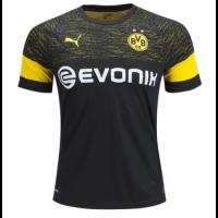 18-19 Borussia Dortmund Away Black Soccer Jersey Shirt