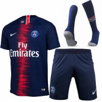 18-19 PSG Home Player Version Soccer Jersey Whole Kit(Shirt+Short+Socks)