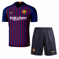 18-19 Barcelona Home Soccer Jersey Kit(Shirt+Short)