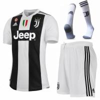 18-19 Juventus Home Soccer Jersey Whole Kit(Shirt+Short+Socks)