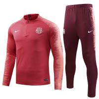 18-19 Barcelona Pink Player Version Zipper Sweat Shirt Kit(Top+Trouser)