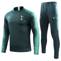 18-19 Tottenham Hotspur Dark Green Player Version Zipper Sweat Shirt Kit(Top+Trouser)