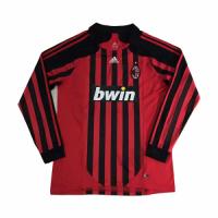 07-08 AC Milan Retro Home Red&Black Long Sleeve Jerseys Shirt