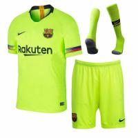 18-19 Barcelona Away Green Soccer Jersey Kit(Shirt+Short+Sock)
