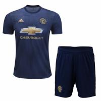 18-19 Manchester United Third Away Navy Jersey Kit(Shirt+Short)