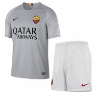 18-19 Roma Away Gray  Soccer Jersey Kit(Shirt+Short)