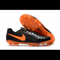 NK Tiempo Legend VII  FG Soccer Cleats-Black&Orange
