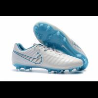 NK Tiempo Legend VII  FG Soccer Cleats-White&Blue